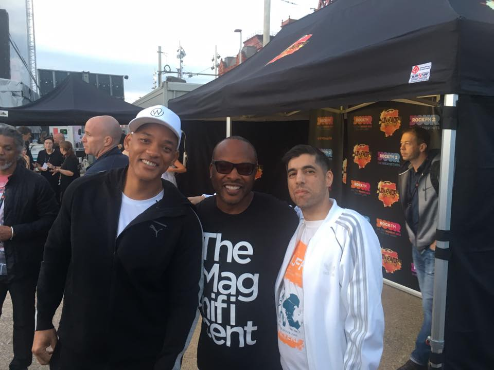 Tim with Will Smith and Jazzy Jeff